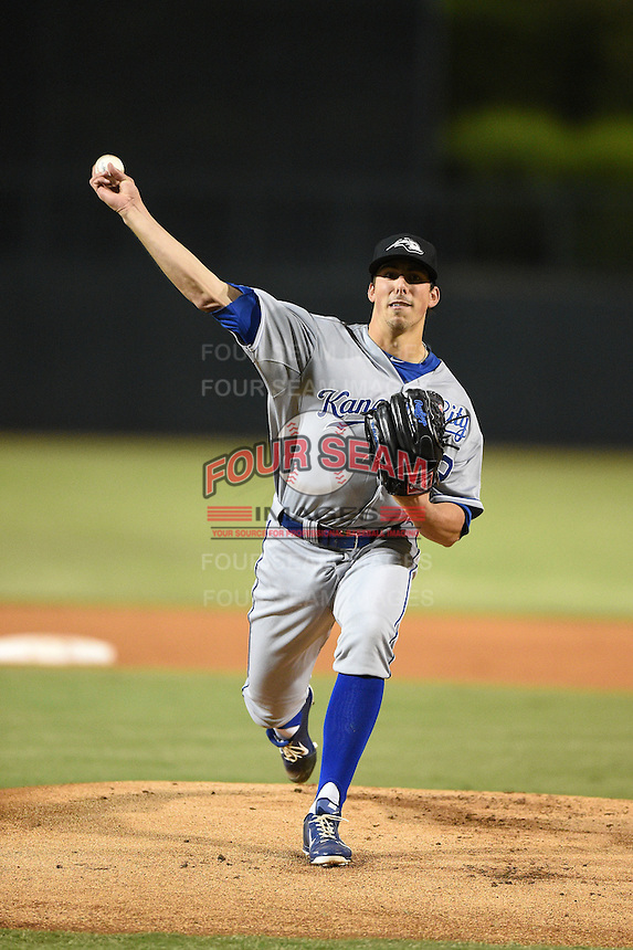 Peoria Javelinas pitcher Kyle Zimmer (29) during an Arizona Fall League game against the Glendale Desert Dogs on October 13, 2014 at Camelback Ranch in Phoenix, Arizona.  The game ended in a tie, 2-2.  (Mike Janes/Four Seam Images)