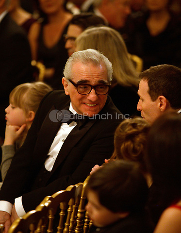 Washington, DC - December 6, 2009 -- Film director Martin Scorsese shown prior to a White House East Room reception for the recipients of the 2009 Kennedy Center Honors, in Washington, DC, Sunday, December 6, 2009.<br /> Credit: Martin H. Simon / Pool via CNP /MediaPunch