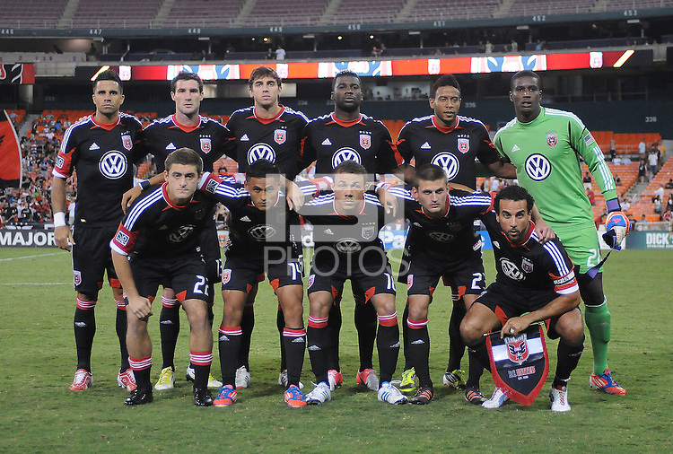 D.C. United starting elven. The New York Red Bulls tied D.C. United 2-2 at RFK Stadium, Wednesday August 29, 2012.