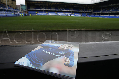 12th August 2017,  Goodison Park, Liverpool, Cheshire, England; EPL Premier League football, Everton versus Stoke City;  The match programme cover for Wayne Rooney's first league match since his return to Everton