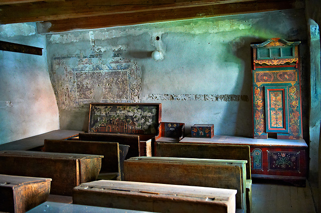 Schollroom in the Saxon Fortified church of Prejmer, Transylvania