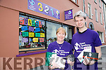 Volunteers Liz Furlong and Shane Curtin who are celebrating their first year in business with their shop, 321. 11 High Street, Tralee which is in aid of Down Syndrome, Kerry.