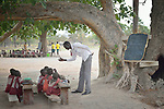 A class under a tree at the Loreto Primary School in Rumbek, South Sudan. The Loreto Sisters began a secondary school for girls in 2008, with students from throughout the country, but soon after added a primary in response to local community demands.