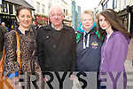 Pictured at the Gathering Festival street concert in Killarney on Sunday evening were Margaret O'Regan, Michael O'Leary, Karina and Laura Courtney.