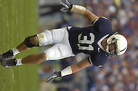 30 September 2006:  Penn State LB Paul Posluszny (31).&amp;#xD;The Penn State Nittany Lions defeated the Northwestern Wildcats 33-7 September 30, 2006 at Beaver Stadium in State College, PA.&amp;#xD;<br />
