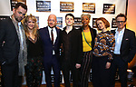 Alex Price, Sonia Friedman, John Tiffany, Anthony Boyle, Noma Dumezweni, Poppy Miller and Jamie Parker attends the 2018 New York Theatre Workshop Gala at the The Altman Building on April 16, 2018 in New York City