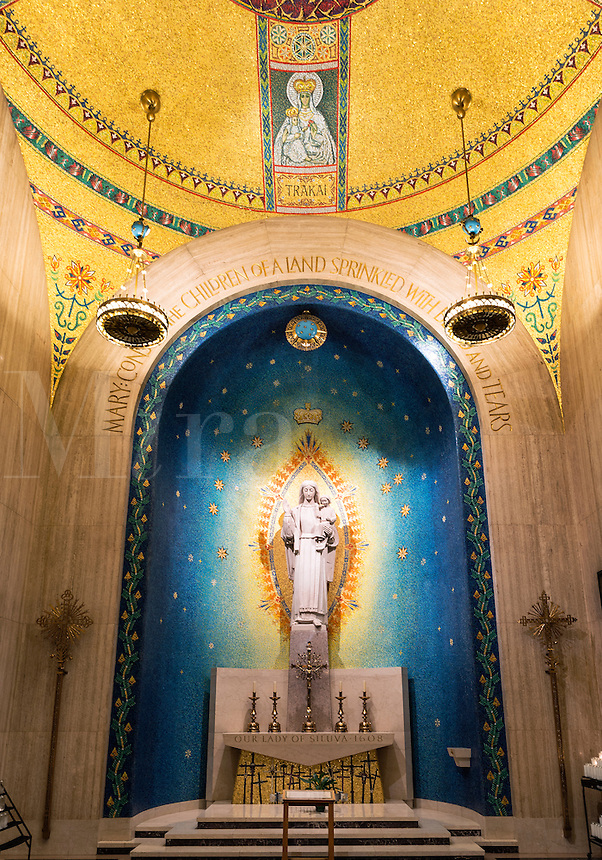 Our Lady of Siluva chapel, Basilica of the National Shrine of the Immaculate Conception, Washington DC, USA