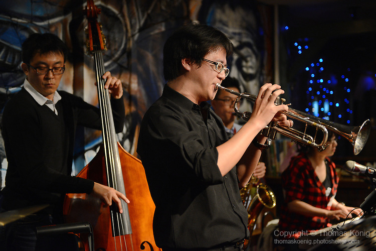 Macaca, Kaohsiung -- SMALLS JAZZ COMBO ft. Allison Campbell are playing a Christmas Jazz Show at Macaca (馬卡卡) in Kaohsiung (Taiwan) on December 27, 2014.