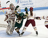 Katie Burt (BC - 33), ?ve-Audrey Picard (UVM - 26), Grace Bizal (BC - 2) -  The Boston College Eagles defeated the University of Vermont Catamounts 4-3 in double overtime in their Hockey East semi-final on Saturday, March 4, 2017, at Walter Brown Arena in Boston, Massachusetts.