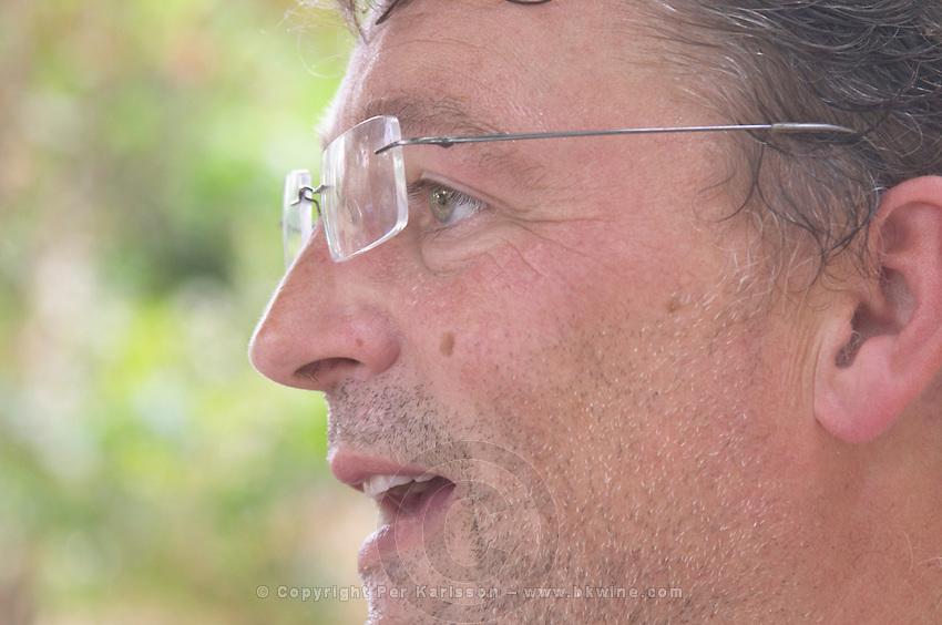 Daniel Le Conte des Floris Domaine Le Conte des Floris, Caux. Pezenas region. Languedoc. Owner winemaker. France. Europe.