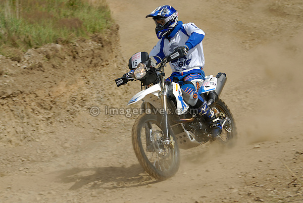 Motorbike racing at the Rallye Dresden Breslau 2007. --- No releases available. Automotive trademarks are the property of the trademark holder, authorization may be needed for some uses.
