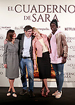 Spanish director, Norberto L&oacute;pez Amado (c-l), the actors<br /> Bel&eacute;n Rueda (c-r), Marian &Aacute;lvarez (l) and Ivan Mendes during the photocall of presentation of the film 'El cuaderno de Sara'. January 30, 2018. (ALTERPHOTOS/Acero)