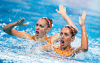 AUGE Laura Marie and CHRETIEN Margaux Emmaneulle FRA<br /> Synchro - Duet free final<br /> Day 07 30/07/2015<br /> XVI FINA World Championships Aquatics Swimming<br /> Kazan Tatarstan RUS July 24 - Aug. 9 2015 <br /> Photo Giorgio Perottino/Deepbluemedia/Insidefoto