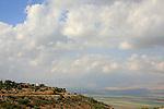 Israel, Upper Galilee, Moshav Ramot Naftali overlooking the Hula Valley