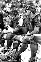 Raiders rest in the mud, Tom Keating and Tony Cline<br />