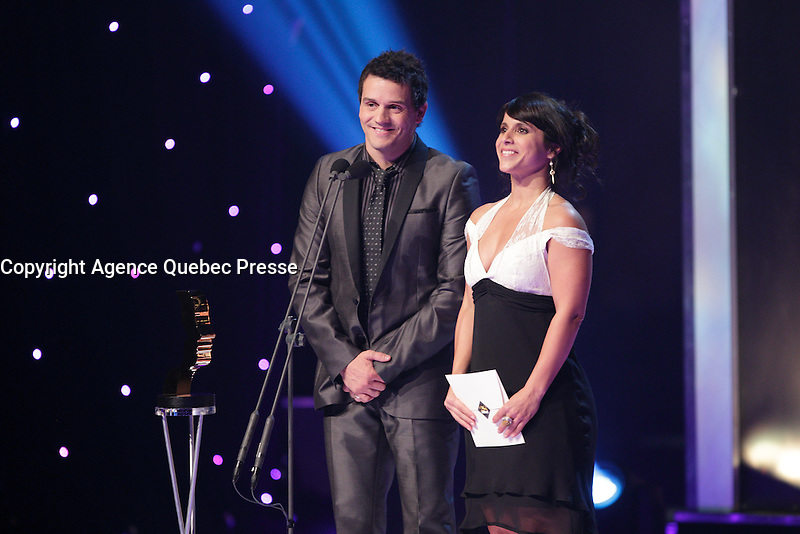 September 15 2013 - Patrice Belanger (L) and Anais Lebrun (R) <br /> attend the GEMEAUX Gala.