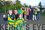 Ciara O'Sullivan (Finuge) Seamus Stack (Chairperson Finuge / St Senan's ladies football) and Siun Cronin (Finuge), along with many other supporters form the club, who are heading to Croke Park on Sunday to support the Kerry Ladies in the All Ireland Final..