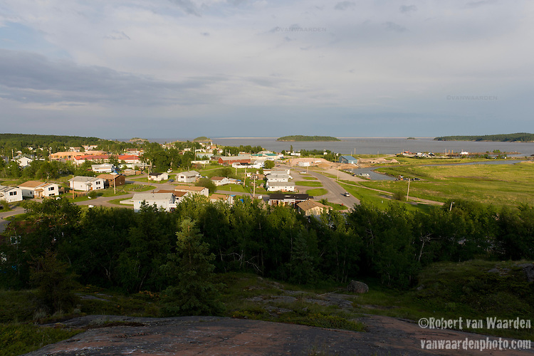 Fort Chipewyan in the evening sun.