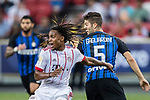 FC Internazionale Midfielder Roberto Gagliardini (R) plays against Bayern Munich Midfielder Renato Sanches (L) during the International Champions Cup match between FC Bayern and FC Internazionale at National Stadium on July 27, 2017 in Singapore. Photo by Marcio Rodrigo Machado / Power Sport Images