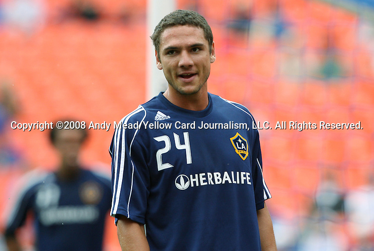 13 September 2008: LA's Julian Valentin. The Kansas City Wizards defeated the Los Angeles Galaxy 2-0 at Arrowhead Stadium in Kansas City, Missouri in a 2008 Major League Soccer regular season game.