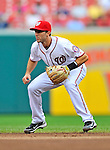 8 September 2011: Washington Nationals infielder Steve Lombardozzi in action against the Los Angeles Dodgers at Nationals Park in Washington, DC. The Dodgers defeated the Nationals 7-4 to take the third game of their 4-game series. Mandatory Credit: Ed Wolfstein Photo