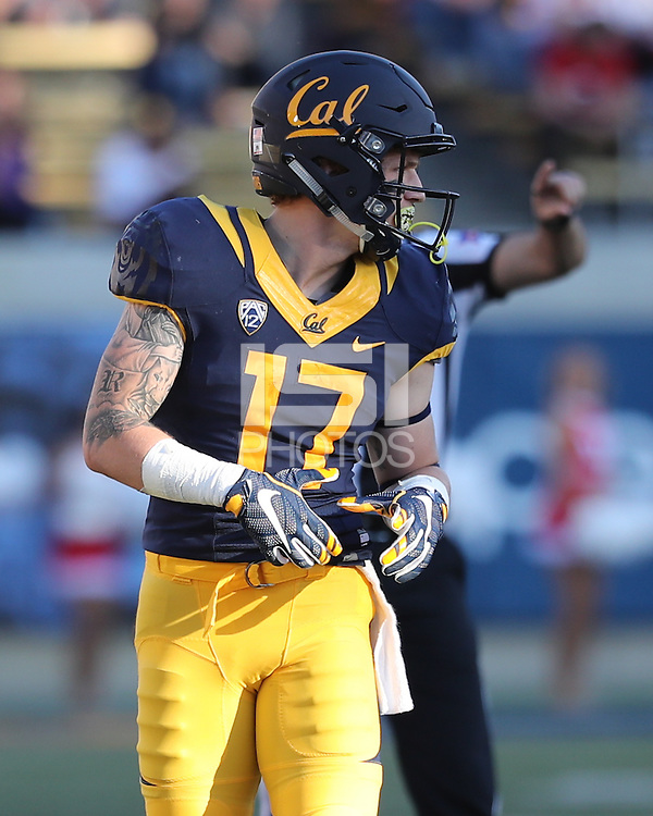 BERKELEY, CA - October 1, 2016: Cal Bears Football team vs. the Utah Utes at California Memorial Stadium. Final score, Cal Bears 28, Utah Utes 23.