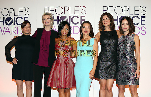 Beverly Hills, CA - November 03 Marcia Gay Harden, Jane Lynch, Christina Milian, Ming-Na Wen, Betsy Brandt, Abigail Spencer Attending People's Choice Awards 2016 - Nominations Press Conference At The Paley Center for Media On November 03, 2015. <br /> CAP/MPI/UPAFS<br /> &copy;FSUPA/MPI/Capital Pictures