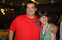 NWA Democrat-Gazette/CARIN SCHOPPMEYER Jeremy Minchew and Elizabeth Rosencutter enjoy the Beach Bingo Bash.