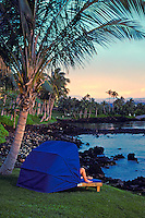 Beautiful view near sunset from the hilton waikaloa village on the big island