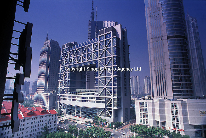 Stock Exchange building in the Pudong area in Shanghai, China..