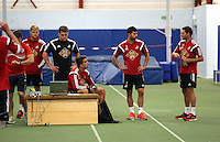 Pictured: David Cornell, Chico Flores, Jordi Amat and Angel Rangel. Thursday 03 July 2014<br />
