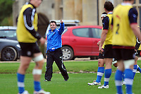 First team coach Mike Ford. Bath Rugby training session on October 25, 2012 at Farleigh House in Bath, England. Photo by: Patrick Khachfe/Onside Images