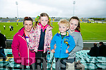 l-r  Patricia O'Connor, Edel O'Connor, Padraig O'Connor and Aoife O'Connor from Ballyduff. at Kerry's win over Carlow at Austin Stack's park on Sunday