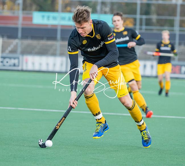 AMSTELVEEN -   Jelle Galema (Den Bosch)   tijdens de competitie hoofdklasse hockeywedstrijd mannen, Amsterdam- Den Bosch (2-3).  COPYRIGHT KOEN SUYK