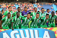BARRANQUILLA - COLOMBIA, 14-04-2019: Los jugadores de Atlético Nacional, posan para una foto, antes de partido adelantado de la fecha 13 entre Atlético Junior y Atlético Nacional, por la Liga Águila I 2019, jugado en el estadio Metropolitano Roberto Meléndez de la ciudad de Barranquilla. /  The players of Atletico Nacional pose for a photo, before match ahead of 13th date between Atletico Junior and Atletico Nacional, for the Aguila Leguaje I 2019 at the Metropolitano Roberto Melendez Stadium in Barranquilla city, Photo: VizzorImage  / Alfonso Cervantes / Cont.