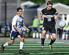 Coby Kamhi #15 of Wheatley, right, gets pressured by  left, gets pressured by Joseph Buglione #2 of South Side during a non-league varsity boys soccer game at South Side High School on Monday, Oct. 10, 2016. South Side won by a score of 6-0.