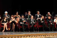 Cerimonia di consegna del premio Le Maschere del Teatro Italiano al Teatro San Carlo di Napoli , 5 Settembre 2014<br /> nella foto