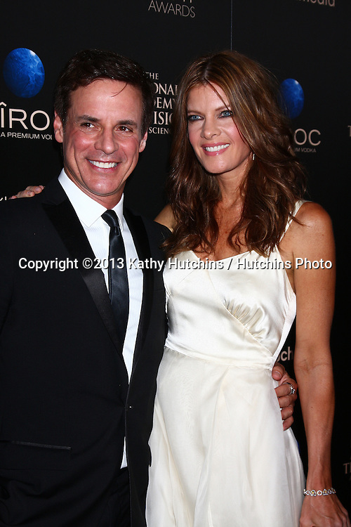 LOS ANGELES - JUN 16:  Christian LeBlanc, Michelle Stafford arrives at the 40th Daytime Emmy Awards at the Skirball Cultural Center on June 16, 2013 in Los Angeles, CA