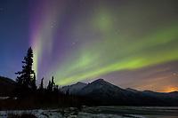 Aurora borealis, Koyukuk River, Brooks Range, Arctic, Alaska.
