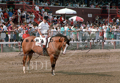 photographed at Saratoga Race Course during the 1989 meeting