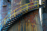 Abandoned blast furnace staircase.