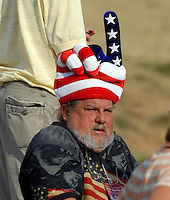 Some unusual headgear at the 18th green the Singles on the Final Day of the Ryder Cup at Valhalla Golf Club, Louisville, Kentucky, USA, 21st September 2008 (Photo by Eoin Clarke/GOLFFILE)