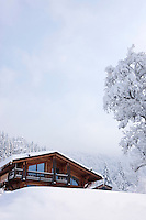 In the heart of the Savoy, this classical mountain chalet constructed of local larch conceals a contemporary interior