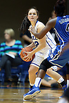26 October 2014: Mercedes Riggs (12) and Sierra Calhoun (4). The Duke University Blue Devils held their annual Blue-White Game at Cameron Indoor Stadium in Durham, North Carolina in preparation of the upcoming 2014-15 NCAA Division I Women's Basketball season.