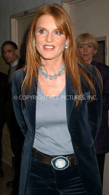 "The Dutchess of York, Sarah Ferguson spoke at the launch of the ""Losing weight-Getting healthy"" initiative to fight obesity at the Harlem Hospital, New York City, January 15 2004. Please byline: AJ SOKALNER/NY Photo Press.   ..*PAY-PER-USE*      ....NY Photo Press:  ..phone (646) 267-6913;   ..e-mail: info@nyphotopress.com"