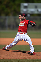 St. Louis Cardinals pitcher Jordan Swagerty (15) during a minor league spring training game against the Miami Marlins on March 31, 2015 at the Roger Dean Complex in Jupiter, Florida.  (Mike Janes/Four Seam Images)