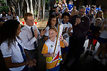 Batonbearer Lauren Davon carrying the Baton at Edge Hill state school as the Queen's Baton Relay visited Cairns. In the host state of Queensland the Queen's Baton will visit 83 communities from Saturday 3 March to Wednesday 4 April 2018. As the Queen's Baton Relay travels the length and breadth of Australia, it will not just pass through, but spend quality time in each community it visits, calling into hundreds of local schools and community celebrations in every state and territory. The Gold Coast 2018 Commonwealth Games (GC2018) Queen's Baton Relay is the longest and most accessible in history, travelling through the Commonwealth for 388 days and 230,000 kilometres. After spending 100 days being carried by approximately 3,800 batonbearers in Australia, the Queen's Baton journey will finish at the GC2018 Opening Ceremony on the Gold Coast on 4 April 2018.