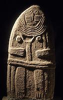 Europe/France/Auvergne/12/Aveyron/Rodez: Le musée Fenaille - Statue menhir Saint-Cernins - Age de Bronze