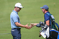 Paul Casey (GBR) and his caddie, John McLaren have a little fun to celebrate after he holed out his approach shot on 14 during round 2 of the World Golf Championships, Mexico, Club De Golf Chapultepec, Mexico City, Mexico. 2/22/2019.<br /> Picture: Golffile   Ken Murray<br /> <br /> <br /> All photo usage must carry mandatory copyright credit (© Golffile   Ken Murray)