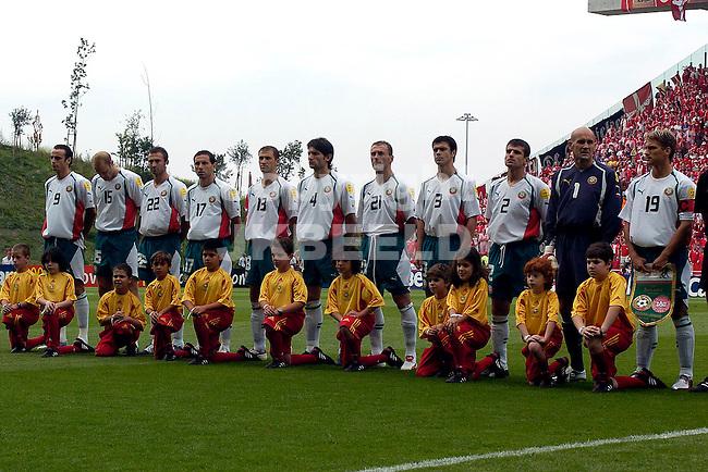 Bulgarije line up Europees kampioenschap 2004 Portugal seizoen 2003-2004 18-06-2004